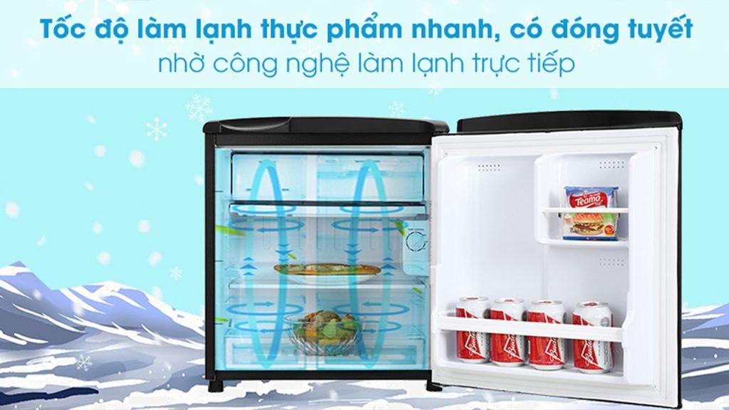 tốc độ làm lạnh thực phẩm nhanh chóng